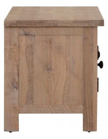Vancouver Sawn White Washed Oak 2 Door TV Unit
