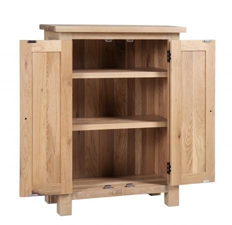 Vancouver Sawn White Washed Oak 2 Door Cupboard