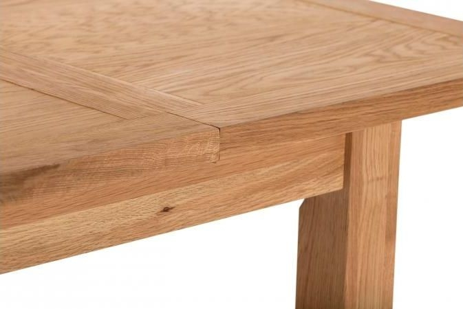 Vancouver Compact Oak Extending Dining Table