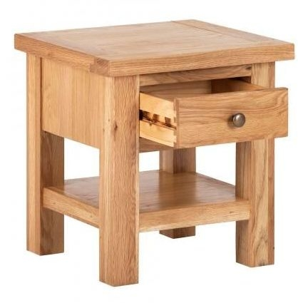 Vancouver Compact Oak 1 Drawer Side Table