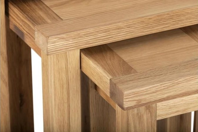 Vancouver Compact Oak Nest of 3 Tables