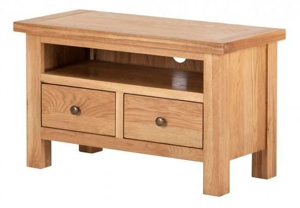 Vancouver Compact Oak 2 Drawer TV Unit