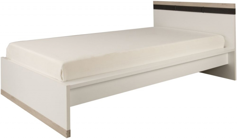 Gami Tiago Bed - White and Bleached Pine