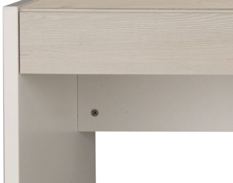 Gami Tiago Desk - White and Bleached Pine