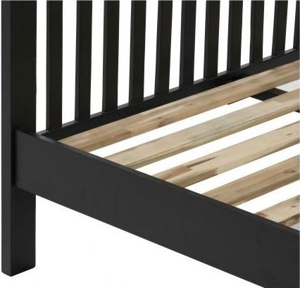Vancouver Compact Bed - Oak and Black Grey