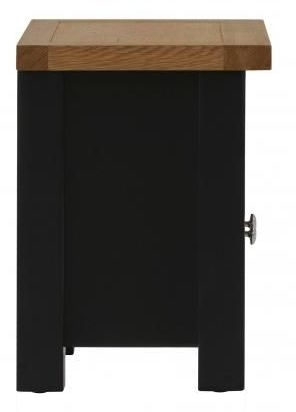 Vancouver Compact 2 Drawer TV Unit - Oak and Black Grey