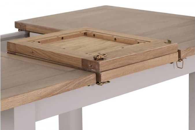Vancouver Compact Extending Dining Table - Oak and Light Grey