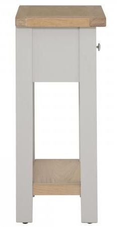 Vancouver Compact 1 Drawer Telephone Table - Oak and Light Grey