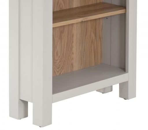 Vancouver Compact Bookcase - Oak and Light Grey