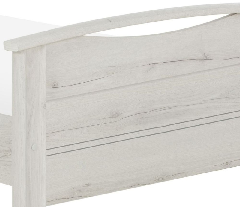 Gami Montana Whitewashed Oak Bed
