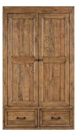 Urban Loft Reclaimed Pine Industrial 2 Door 1 Drawer Wardrobe