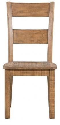 Urban Loft Reclaimed Pine Industrial Dining Chair with Timber Seat (Pair)