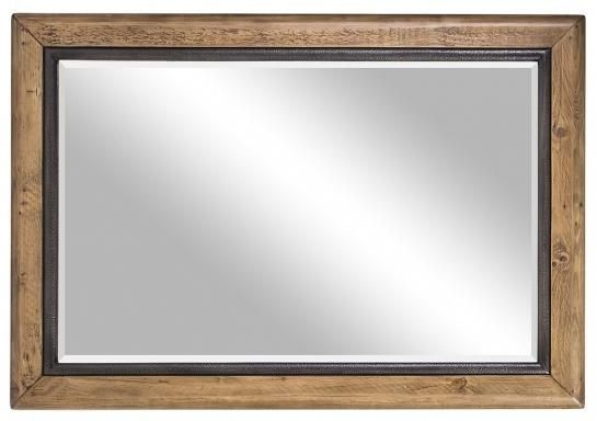 Urban Loft Reclaimed Pine Industrial Mirror
