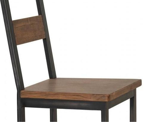 Forge Old Oak Industrial Dining Chair (Pair)