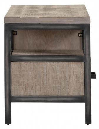 Forge Weathered Oak Industrial 2 Drawer Small TV Unit