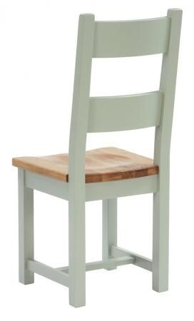 Vancouver Expressions Horizontal Slats Dining Chair with Timber Seat (Pair)