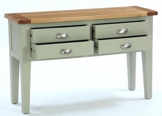 Vancouver Expressions 4 Drawer Hall Table - Oak and Grey