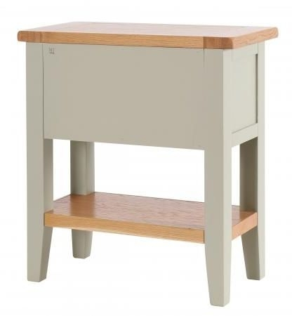 Vancouver Expressions 1 Drawer Console Table - Oak and Grey