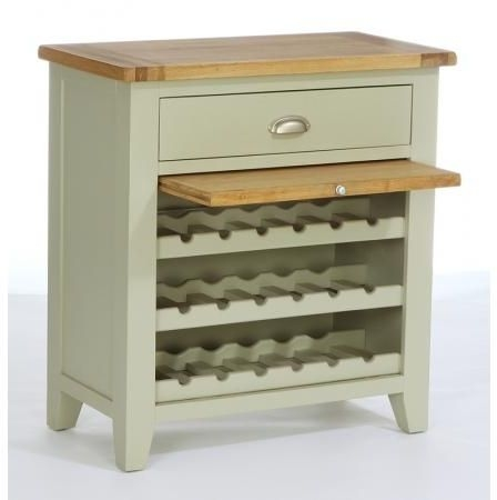 Vancouver Expressions 1 Drawer Wine Rack - Oak and Grey