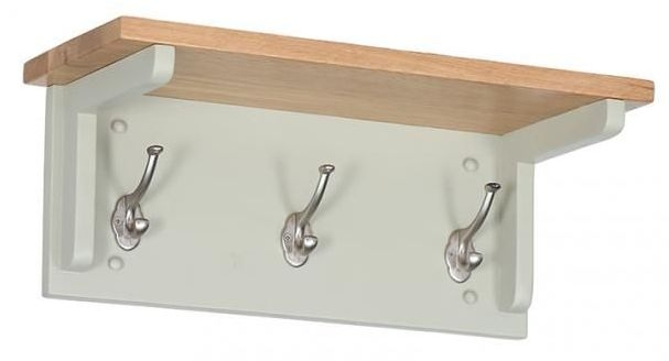 Vancouver Expressions 3 Hooks Coat Rack - Oak and Grey