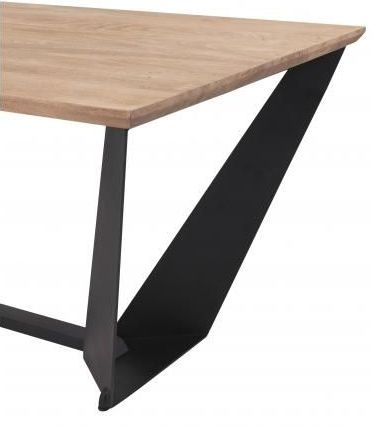 Oslo Vintage Brown Wing Industrial Dining Table