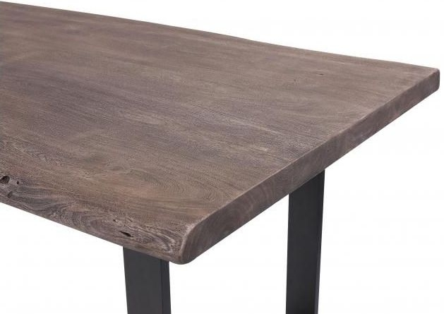 Oslo Vintage Brown Organic Industrial Dining Table