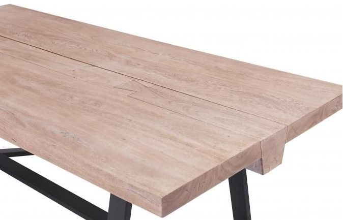 Oslo Vinegar Wood Giza Industrial Dining Table