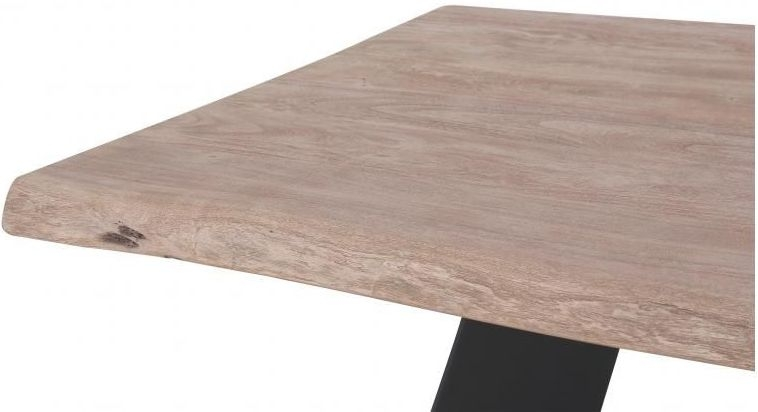 Oslo Sandblasted Grey Counter Balance Industrial Table