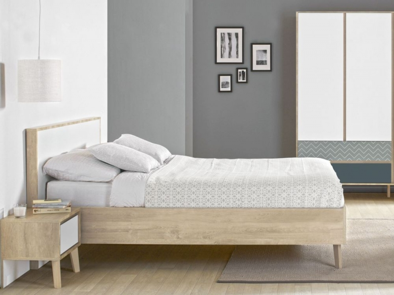 Gami Larvik Blond Oak Double Bed