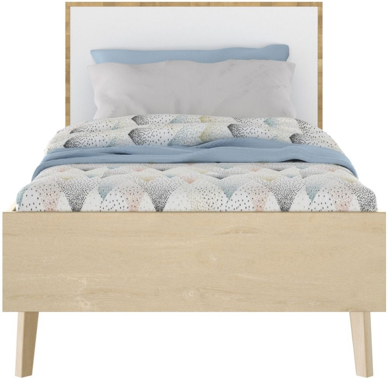 Gami Larvik Blond Oak Bed