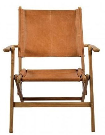 Durban Brown Leather Wooden Chair