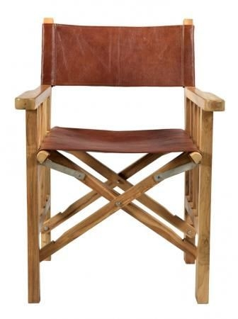 Durban Red Leather Wooden Chair