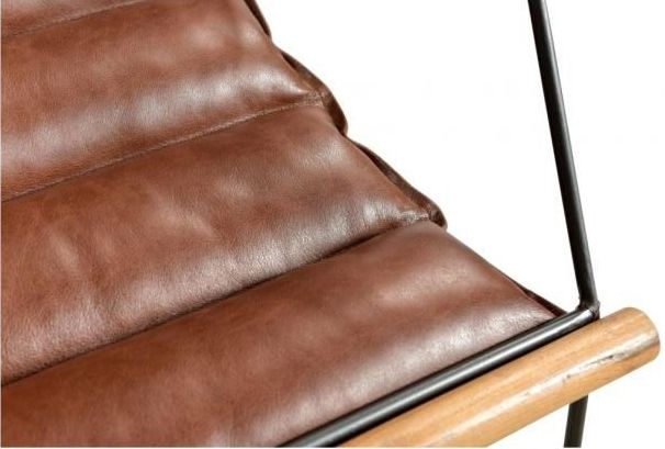 Durban Brown Leather Armchair