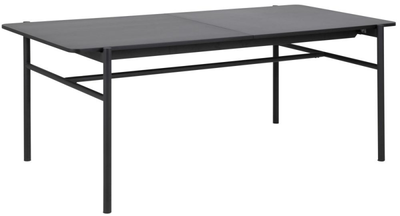 Nevis Black Butterfly Extending Dining Table