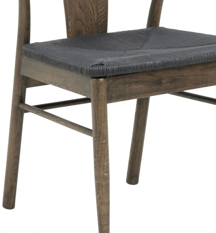 Jamaica Smoke Stained Oak Dining Chair (Pair)