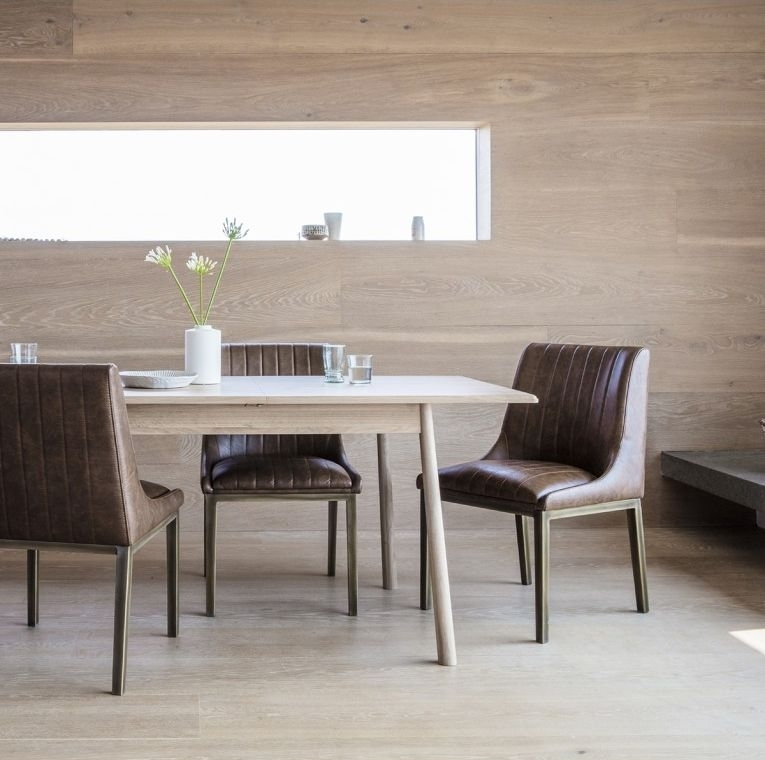 Clearance - Gallery Direct Wycombe Extending Dining Table - Oak - New - FS0020