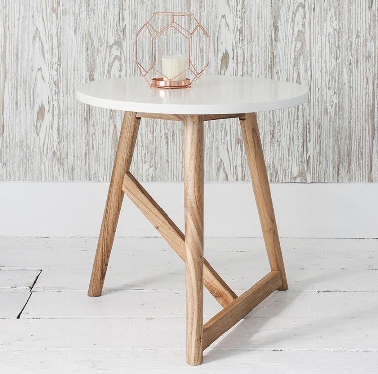 Clearance - Gallery Direct Hamar Round Side Table - White - New - FS0057