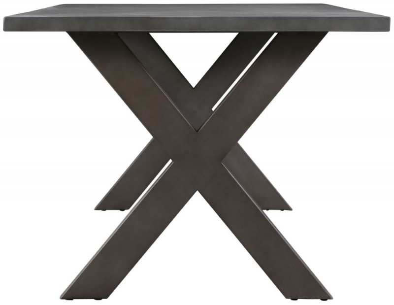 Pergo Industrial Medium Concrete Dining Table Top with X Base