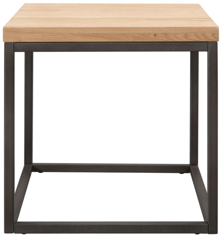 Pergo Industrial Weathered Oak Lamp Table
