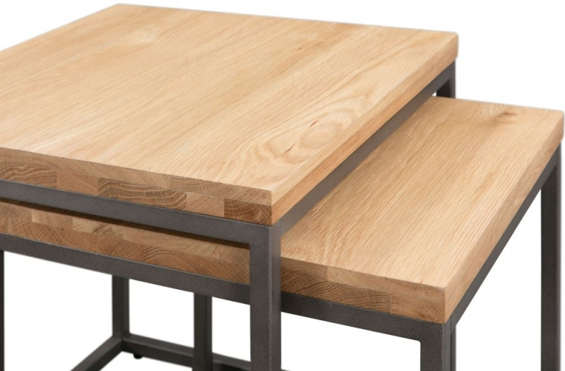 Pergo Industrial Weathered Oak Nest of Table