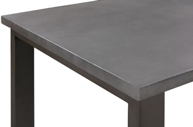 Pergo Industrial U Base Standard Dining Table with 2 Chairs and Armchairs and Bench - Concrete and Grey