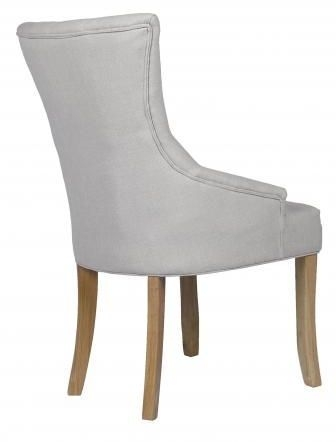 Beige Fabric Dining Chair with Wooden Legs (Pair) - DX-6028