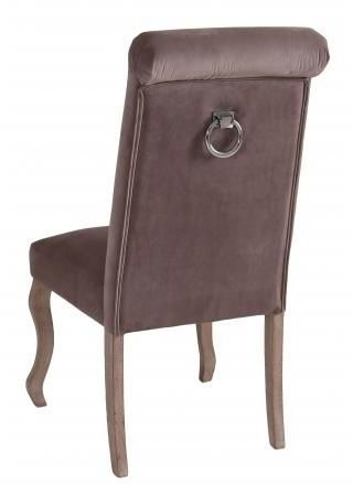 Light Grey Fabric Dining Chair with Wooden Legs (Pair) - DX6040-LG
