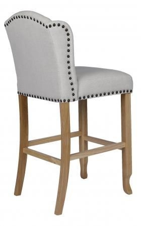 Beige Fabric Bar Stool (Pair)