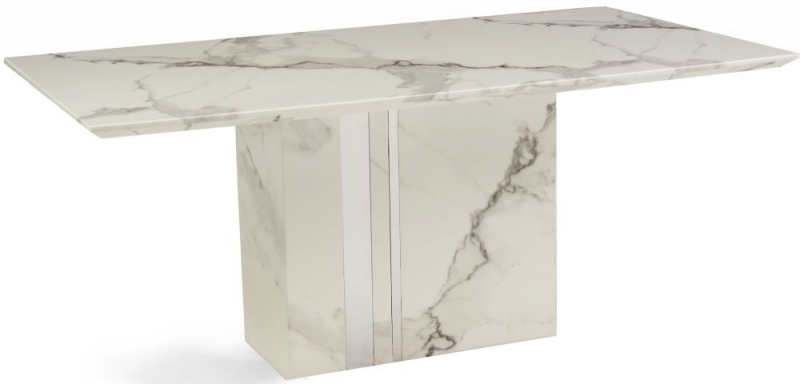 Mark Harris Alice White Engineered Marble Dining Table