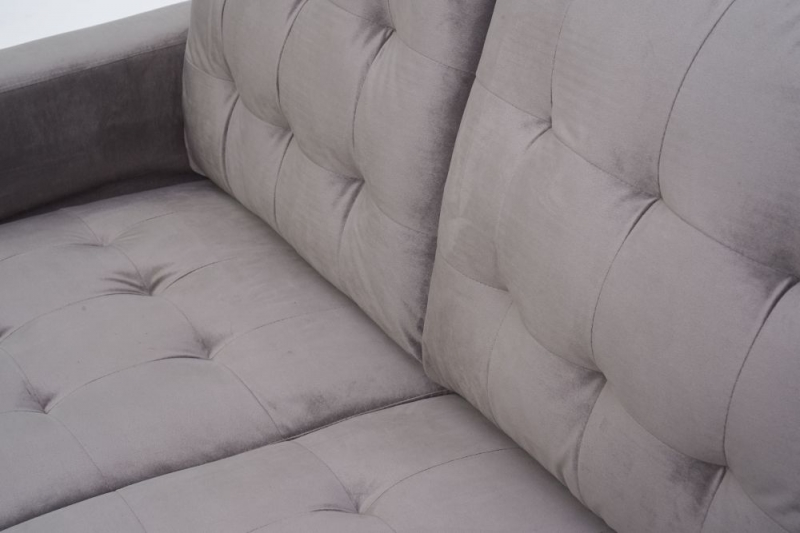 Mark Harris Lillian Grey Velvet 2 Seater Sofa