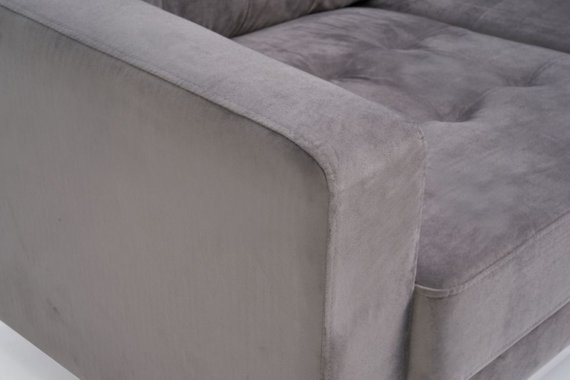 Mark Harris Lillian Grey Velvet 3 Seater Sofa