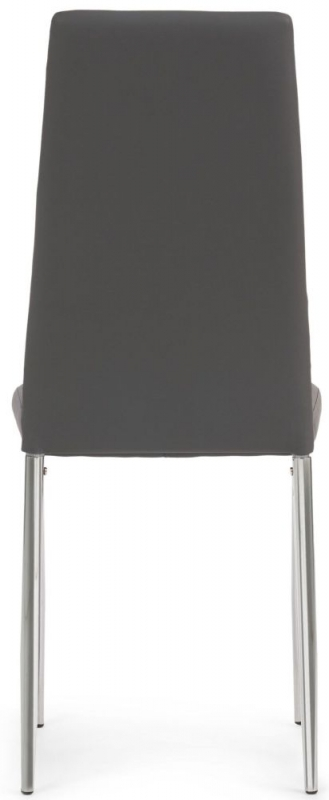 Mark Harris Carolina Grey Faux Leather Dining Chair (Pair)
