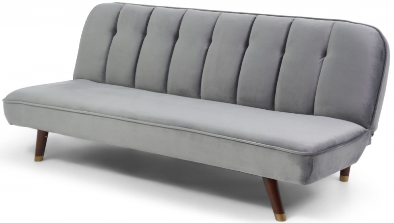 Mark Harris Jodie Grey Velvet Sofa Bed