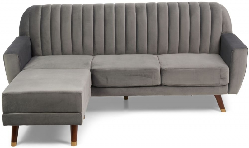 Mark Harris Leslie Grey Velvet Sofa Bed